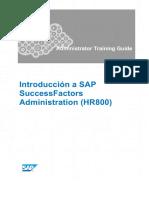 Introducción a SAP SuccessFactors Administration (HR800)
