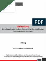 Instructivo Cadena Funcional y Vinculacion Con Indicadores de Brecha