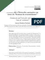 Antonio Edmilson Paschoal - Dostoievski e Nietzsche Anotações Em Torno Do Homem Do Ressentimento