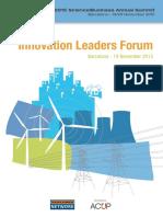 Innovation Leaders Forum Event Pack, 19 NOV 2015 (BCN)