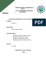 Informe Del Pendulo Fisica