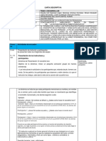 Carta Descriptiva pedagógica