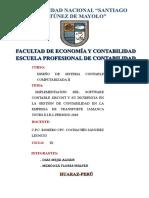Implementacion de SISCONT Jamanca Tours E.I.R.L 2018[1]