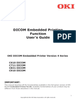 MANUAL DICOM Embedded Printer Ver.4.00 Users Guide for C610 C711 C831 C910