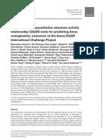 Improvement of quantitative structure–activity relationship (QSAR) tools for predicting Ames mutagenicity