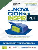 Directorio de Expositores 2019 Expoconstruccion y Expodiseno