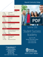 Student Success Academy Brochure