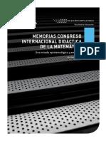 Memorias Congreso Internacional Didáctica de Las Matemáticas