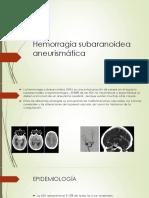 Hemorragia subaranoidea aneurismática