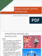 Konsep Gender Dalam Kespro Perempuan