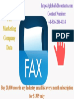 Singapore Fax Marketing Company Data