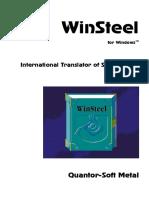 Winsteel Manual