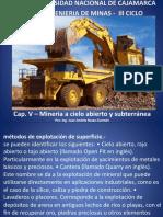 PPT Mineria a Cielo Abierto y Subterranea