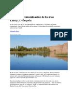 Contaminacion Aguas Del Limay-Neuquen-Rio Negro-2017