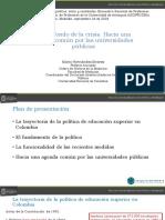 Mario Hernandez Desfinanciacion Universidades