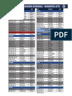 Winnipeg Jets Schedule 2019-20
