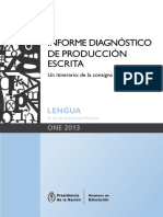 Leones. Informe Diagnóstico de Producción Escrita. Un Itinerario - De La Consigna a La Grilla.