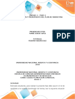 Paso 4 - Plan de Acción y Presupuesto Del Plan de Marketing