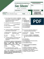 Examen Lenguaje 3 Sec 2018