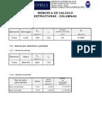 Memoria de Calculo Columnas- Version 4-07-12-19