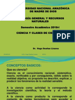 Ciencia y Método Científico 2018