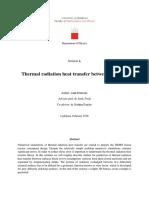 Thermal Radiation Heat Transfer Between Surfaces Luka Klobucar