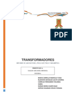 Informe Fisica Electrica Transformadores