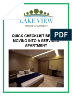 Quick Checklist Before Moving Into a Serviced Apartment