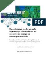 Artigo - Do Antiespaço Moderno, Pelo Hiperespaço Pós-moderno, Ao Econtro Do Espaço Na Contemporaneidade