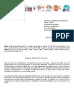 Courrier de l'intersyndicale à Christophe CASTANER le 19-06-2019