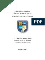 Propuesta para la Reforma Estatutaria de la UNASAM