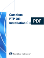 Cambium PTP 700 Series Installation Guide
