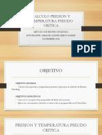 CALCULO PRESION Y TEMPERATURA PSEUDO CRITICA.pptx