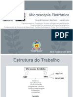 Apresentação de microscopia eletronica de varredura e transmissão