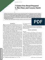 Optimization of Gluten-Free Bread Preparedfrom Cornstarch, Rice Flour, And Cassava Starch, Sanchey 2006