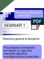 Seminar ARBORELE PROBLEMELOR SI OBIECTIVELOR