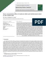 Efecto de Concentración de Esfuerzos en Socavación y Refuerzo en Una Unión a Tope