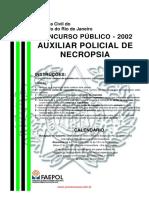 Auxiliar de Necropsia Concurso Público de 2002
