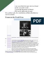 Role of women in world war