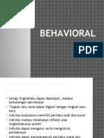 Behavioral Untuk Kemenag