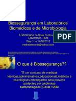 BIOSSEGURANÇA EM LABORATÓRIOS, BIOMÉDICOS E DE MICROBIOLOGIA.ppt