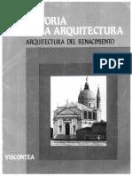Historia de  la  arquitectura. La  Arquitectura del  Renacimiento  vol  5
