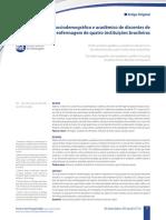 Perfi l sociodemográfico e acadêmico de discentes de enfermagem de quatro instituições brasileiras