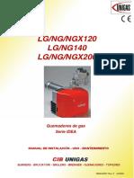 Manual Valvula Gas