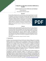 Treinta Años de Investigacion en Educaion Estocastica