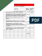 FICHAS TECNICAS - MANTENIMIENTO