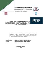 Análisis de Herramientas de Integración Contínua Para Proyectos de Software