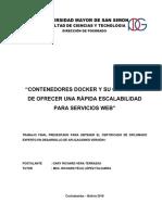 Contenedores Docker y Su Capacidad de Ofrecer Una Rápida Escalabilidad Para Servicios Web