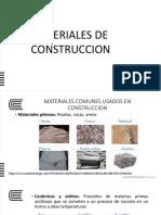 Area de Construccion - Materiales de Construccion