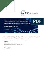 IMC-VTEI Impact Assessmnt Draft Methodology